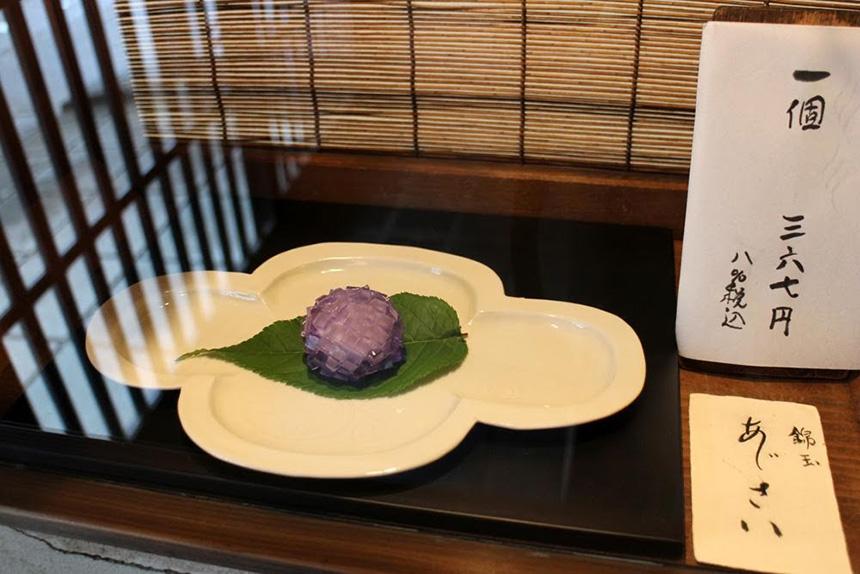紫陽花和菓子