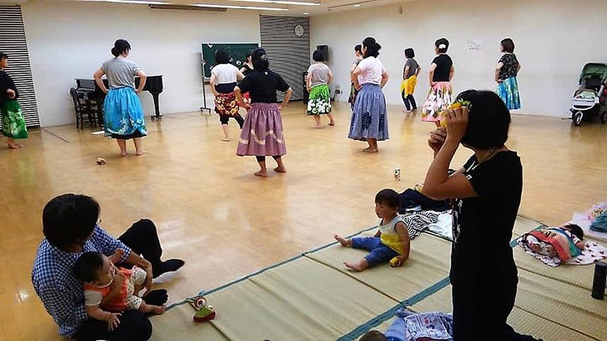 プレママと産後ママのフラ教室
