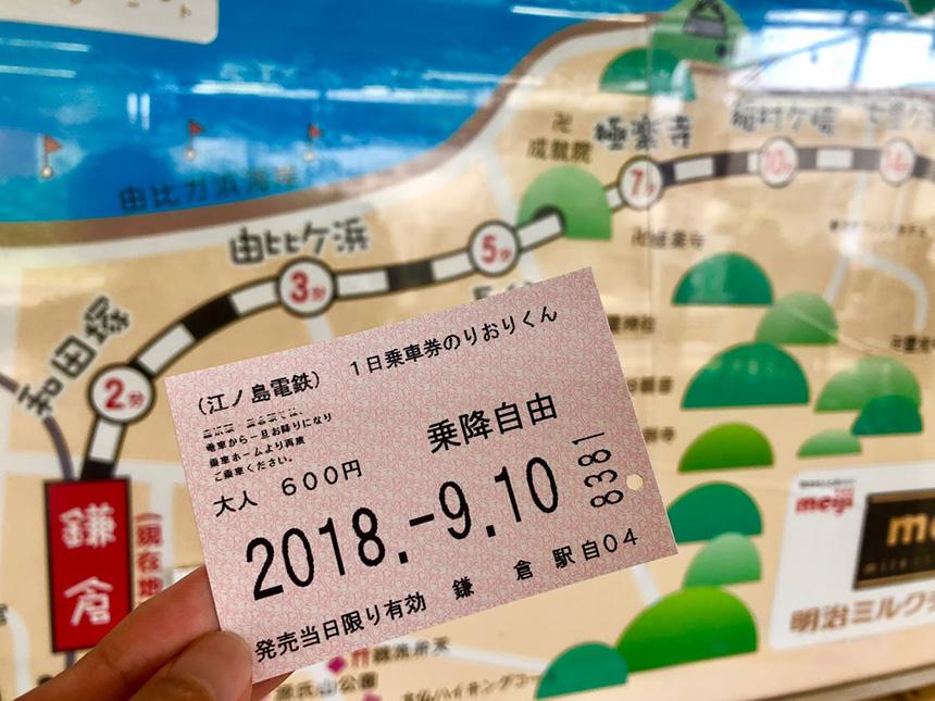 江ノ電の一日乗車券「のりおりくん」