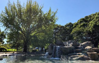 平塚市総合公園の水遊び