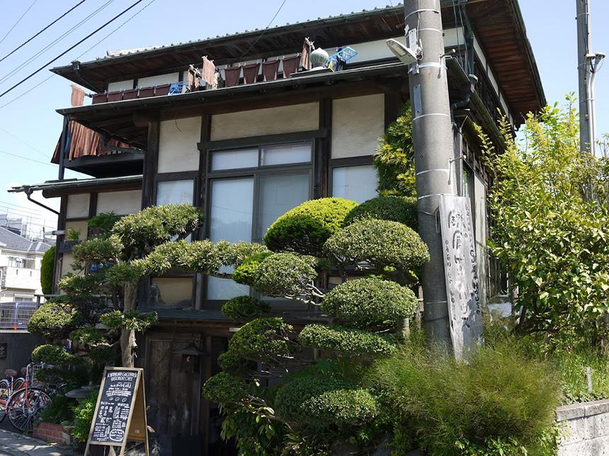 鎌倉のベーグルカフェ『べーぐるもへある』の外観