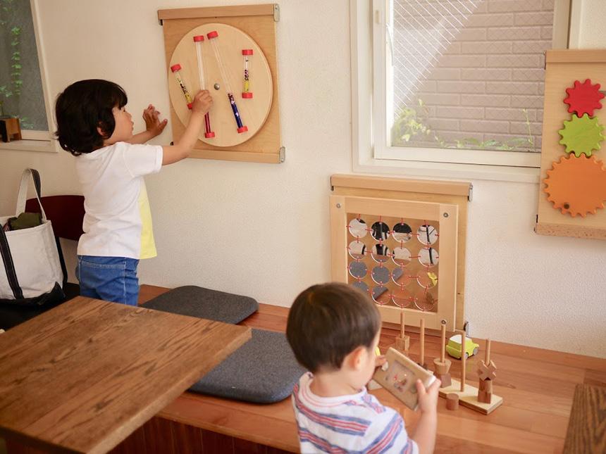 鎌倉の親子カフェ『MISORA cafe(ミソラカフェ)』の子ども向けおもちゃ