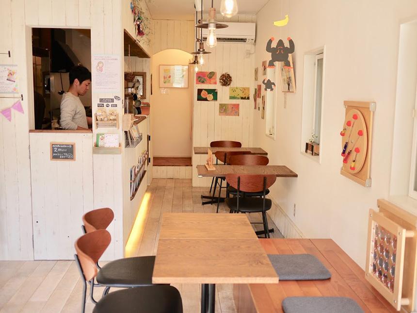 鎌倉の親子カフェ『MISORA cafe(ミソラカフェ)』の店内