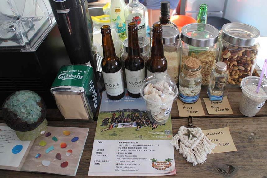 鵠沼海岸のスムージーカフェ『MOANI』のハンドメイドクラフト販売