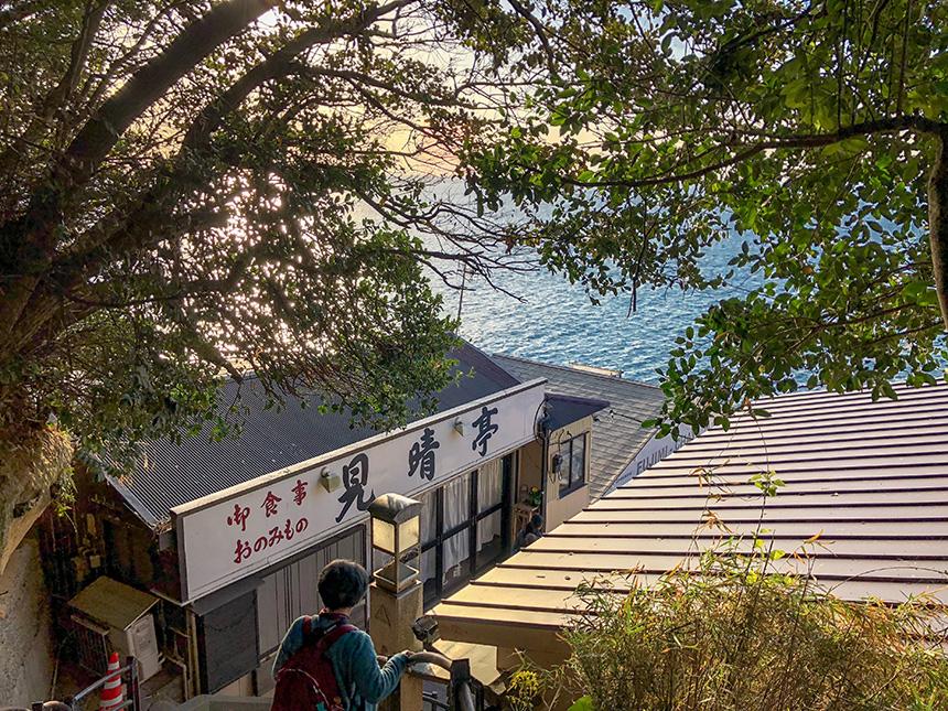 江ノ島の裏磯への階段