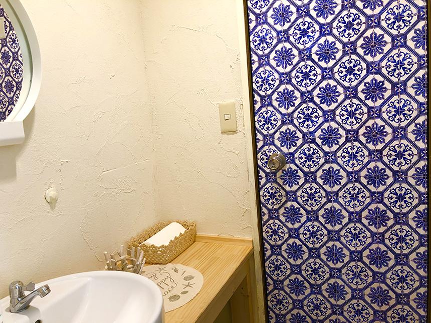 江ノ島のクレープショップCoCoの手洗い場