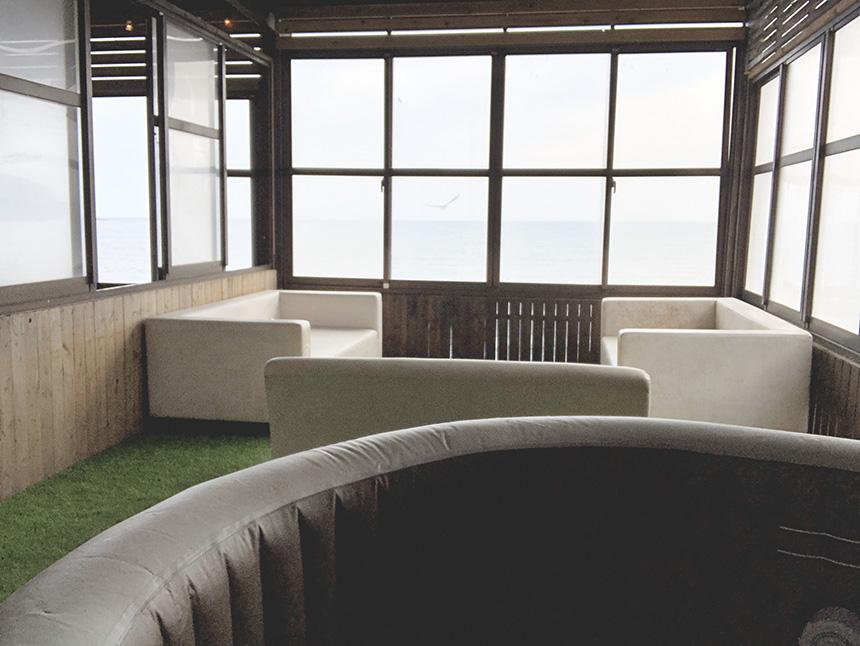 江ノ島のオーカフェのジャグジー個室