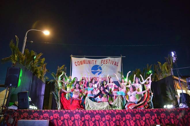 七里ケ浜のコミュニティーフェスティバルにて