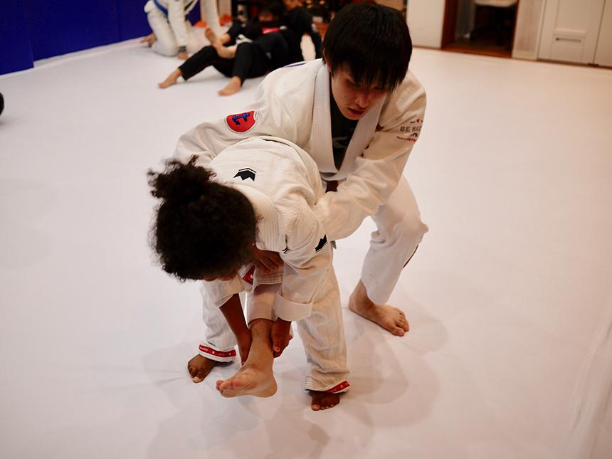 女の子の柔術