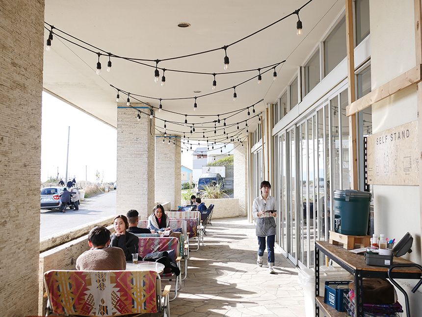 サザンビーチカフェのテラス席