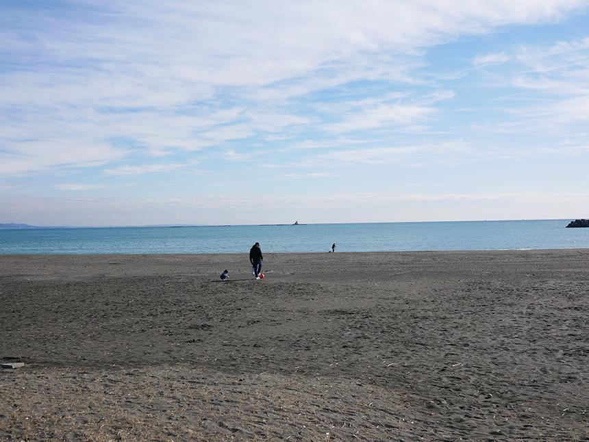 サザンビーチカフェからすぐの海水浴場