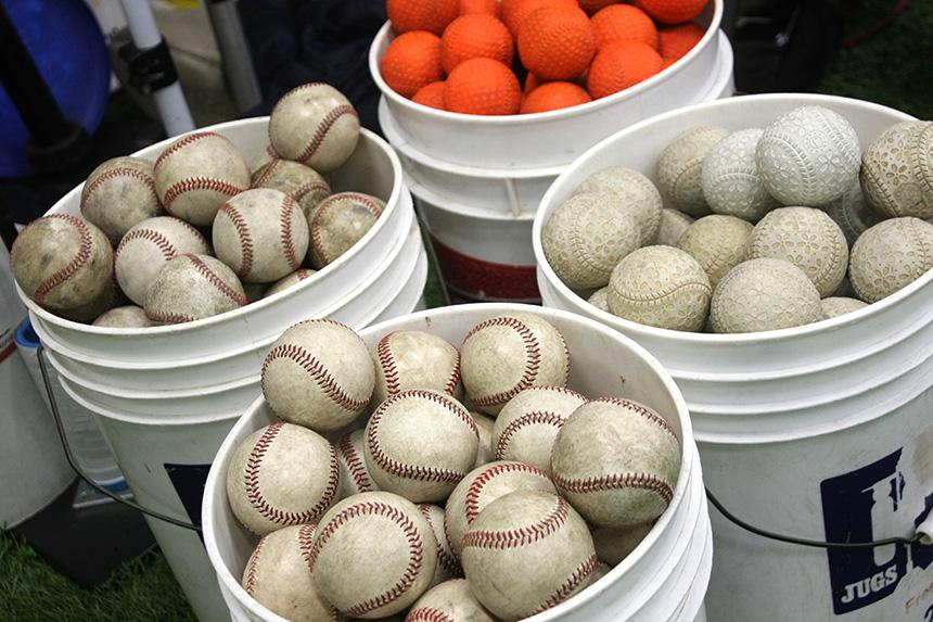 藤沢・野球塾で子どもが練習する野球のボール