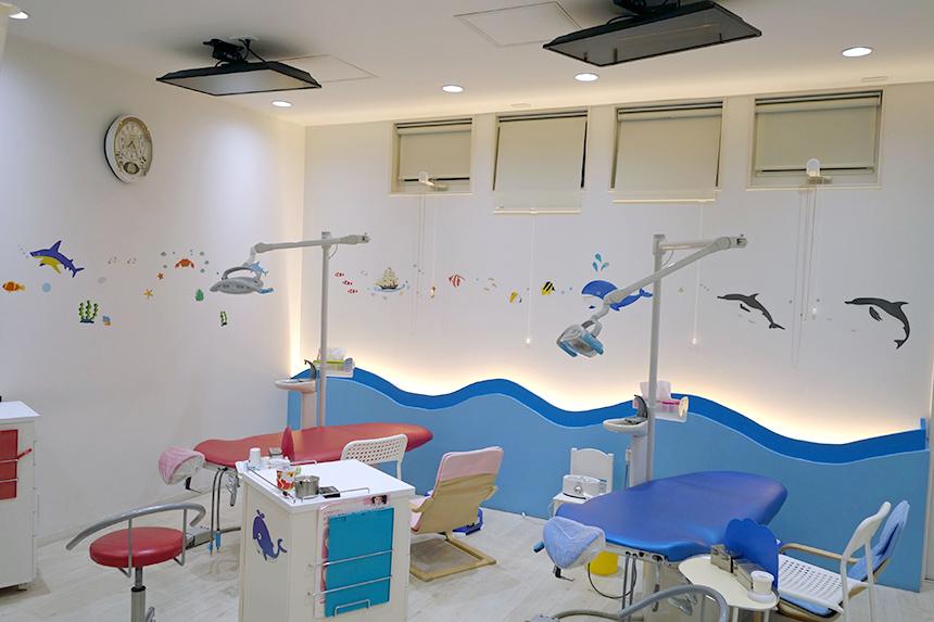 葉山こどものための歯医者さんの診察スペース