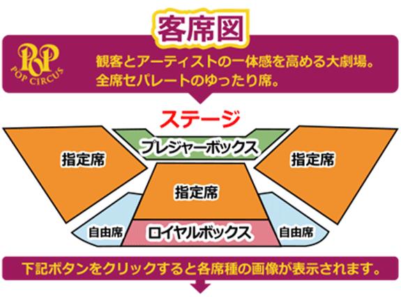 サーカスショー『ポップサーカス』横須賀公演の座席図