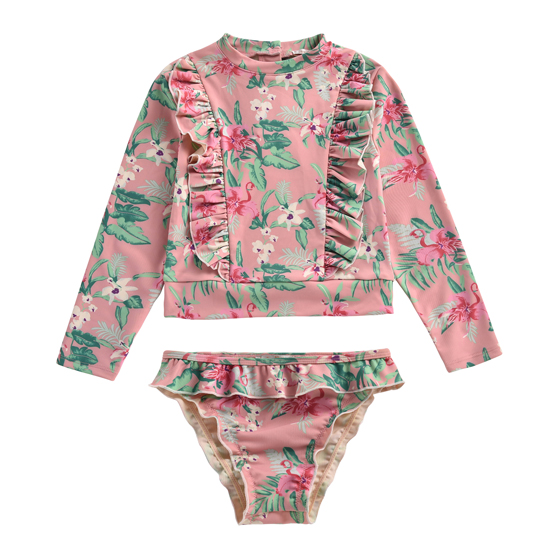 Louise Misha Girls UV Protective Set Toluca Sienna Flamingo