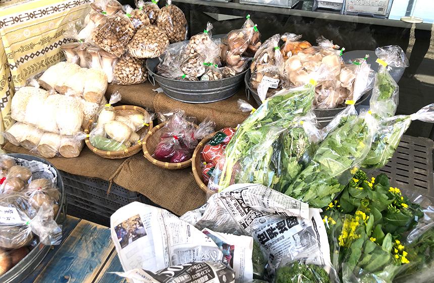 しめじ、えのきなどきのこ類の無農薬野菜