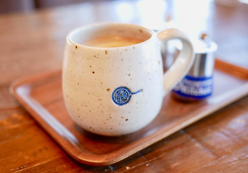 柳島キッチンでお食事後のコーヒー
