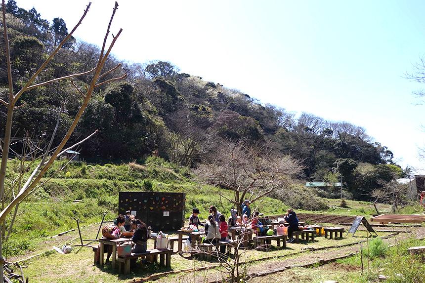 農園で開催される工作ワークショップや子どもイベント