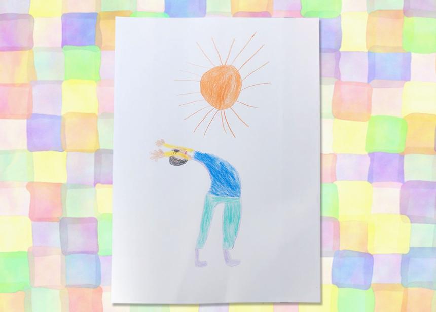 「おひさまのわプロジェクト」の子どもが描いた絵