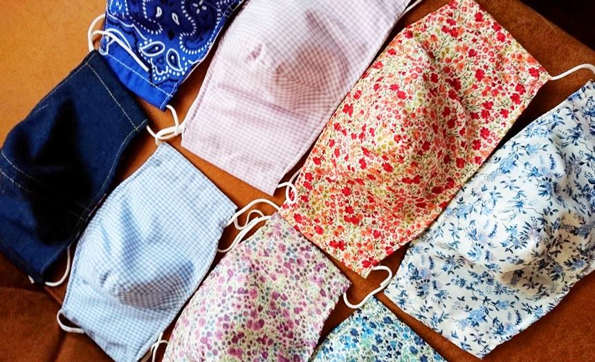可愛い布地で作る布マスク