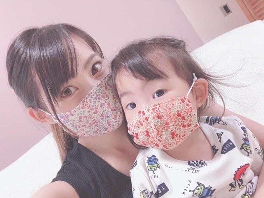 ママと子どもで一緒に布マスク