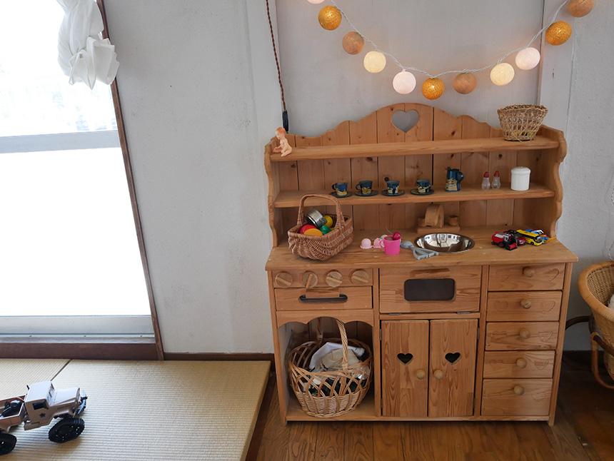 鎌倉コワーキングハウスの子ども用おままごとセット