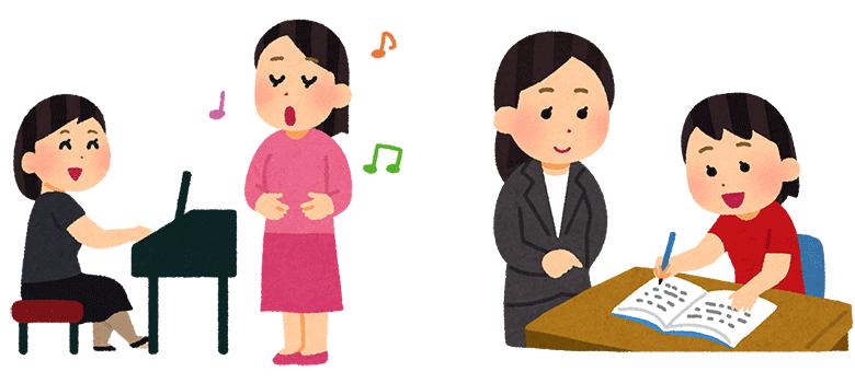 音楽教室や学習塾の講師