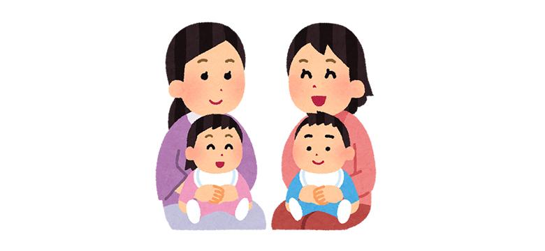 子育て中のママと子ども