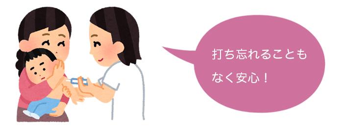 藤沢市子育てアプリ「母子モ」の予防接種日お知らせ機能