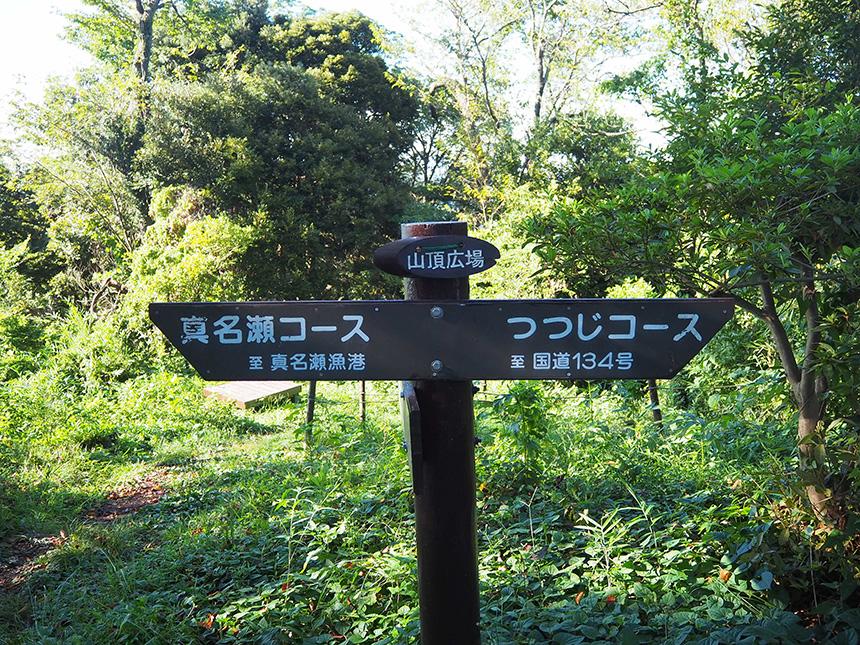 はやま三ヶ岡山緑地の標識