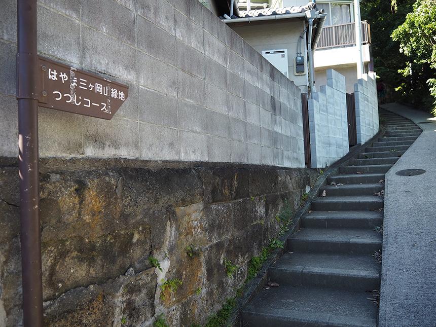 はやま三ヶ岡山緑地の登山口