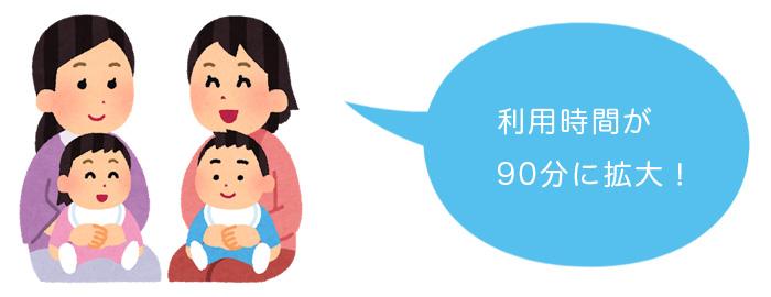 藤沢市子育て支援センターは、利用時間が90分に拡大