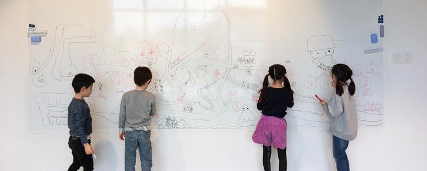 T-KIDSシェアスクールの『こどもの哲学教室 ソフィー』の稽古風景
