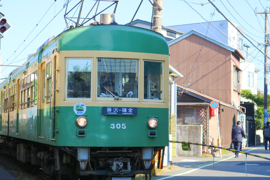 鎌倉を走る江ノ電