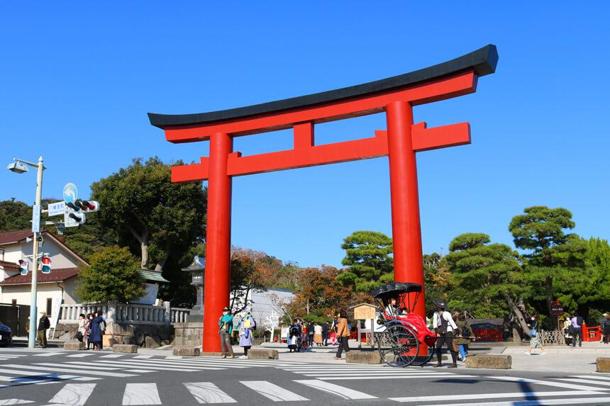 鎌倉半日観光『鶴岡八幡宮』の三ノ鳥居