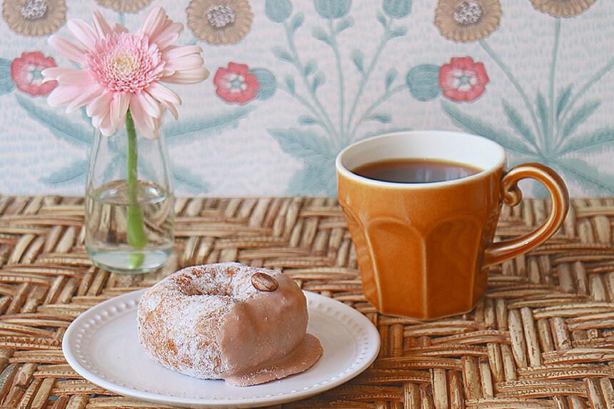 『ミサキドーナツ』のカフェモカ