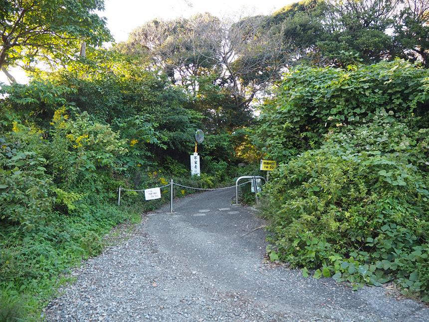 葉山『南郷上ノ山公園』のハイキングコース入口