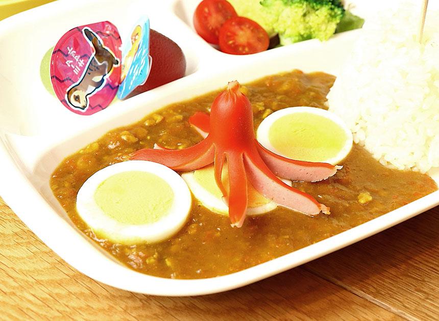 茅ヶ崎『いろどり食堂』のキッズプレートの野菜カレー