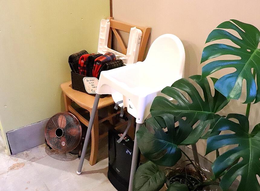 茅ヶ崎『いろどり食堂』の子ども椅子