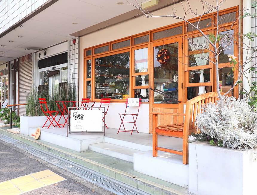 鎌倉のカフェ・ケーキ『POMPON CAKES(ポンポンケークス)』の外観