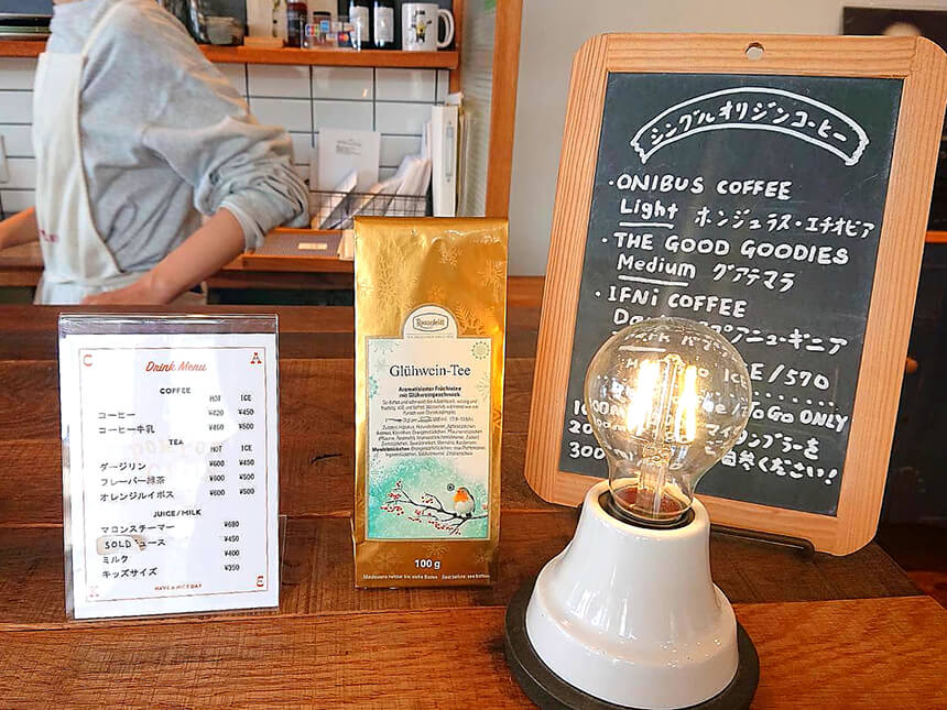 鎌倉のカフェ・ケーキ『POMPON CAKES(ポンポンケークス)』のカフェメニュー