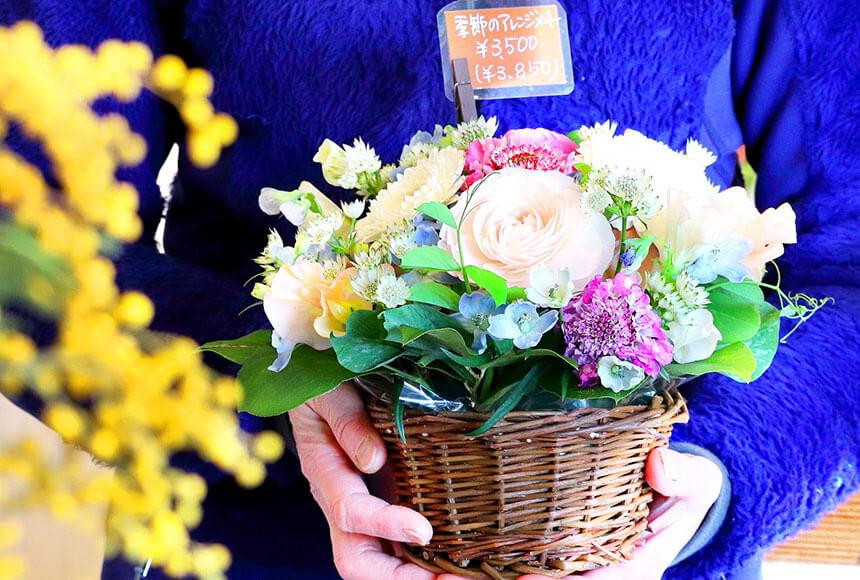 藤沢のお花屋さん「FLORAL WIND'S(フローラルウインズ)」のフラワーアレンジメント