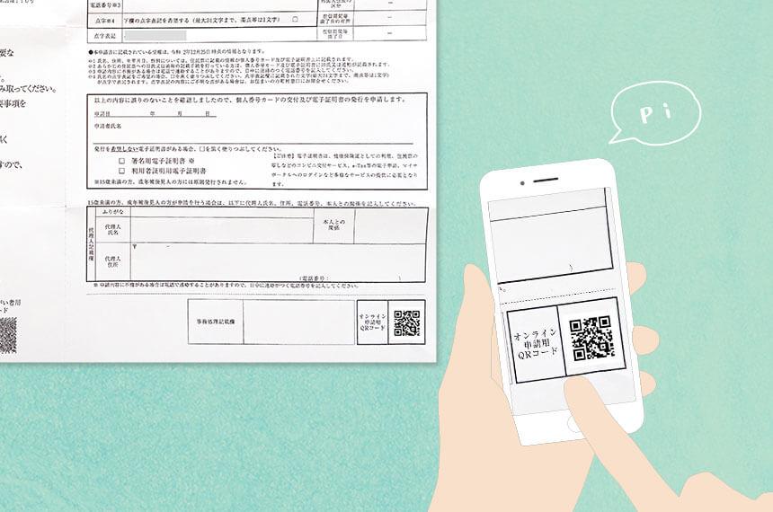 マイナンバーカードの交付申請書のQRコード