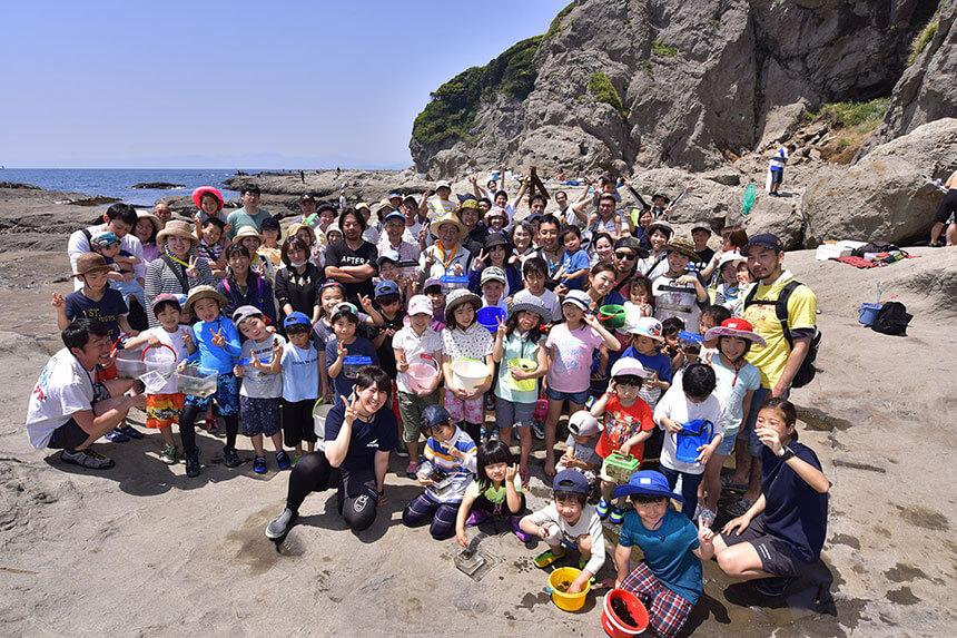 江ノ島・鎌倉『海岸生物観察会』集合写真