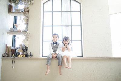 写真館・フォトスタジオ「スタジオカノン」で子ども写真撮影