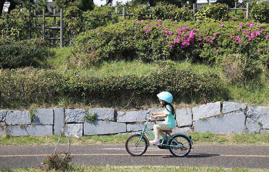 湘南・辻堂海浜公園で自転車練習