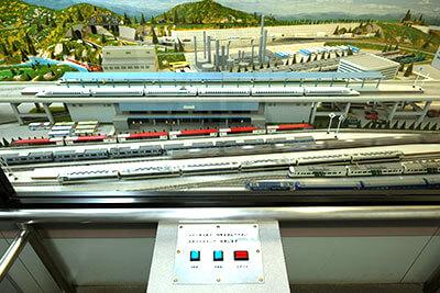 湘南・辻堂海浜公園の交通展示館の鉄道模型パノラマ