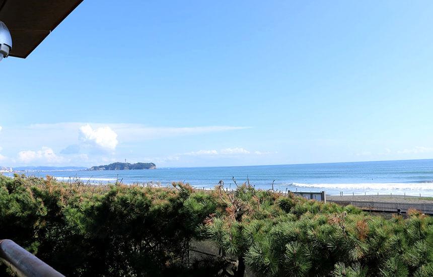 辻堂海岸から眺める湘南