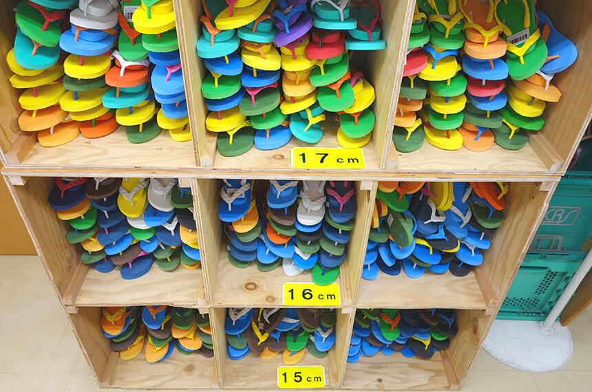 葉山のビーサン・ビーチサンダル専門店「げんべい」の子ども用ビーサン