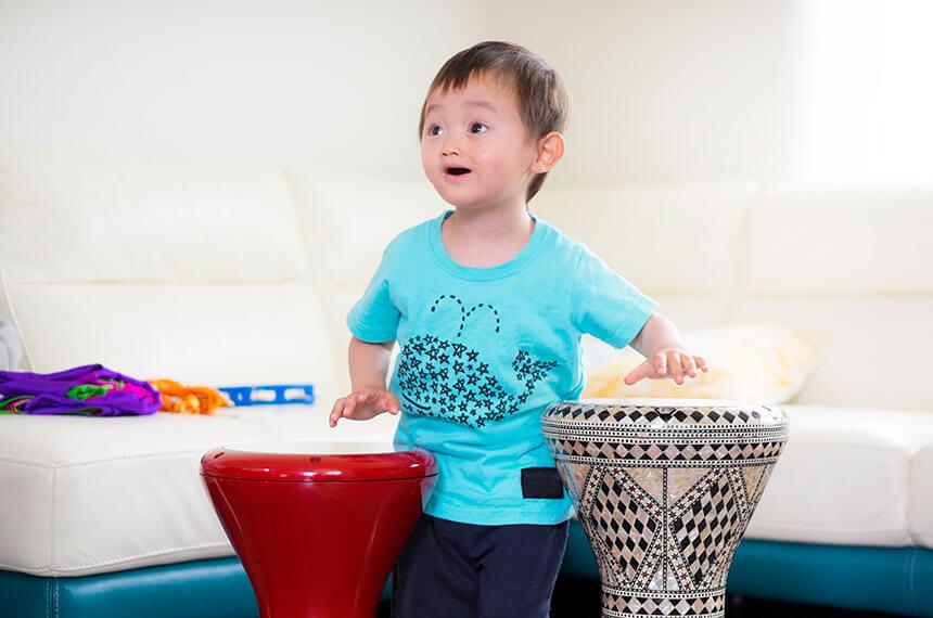 湘南・藤沢のリトミック教室に通う幼児